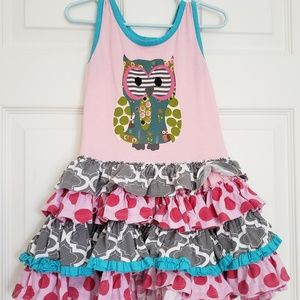 Jelly The Pug owl dress (3T)